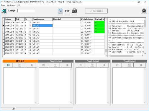 Sterilisation Software